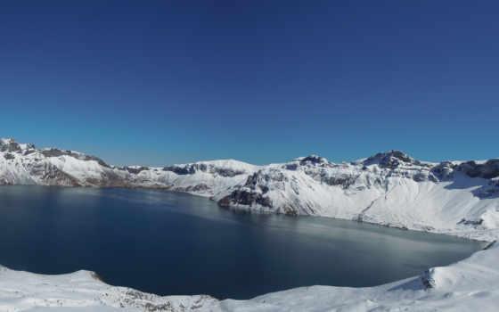 lake, природа, скалы