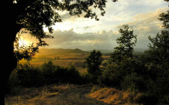 красивый закат на природе