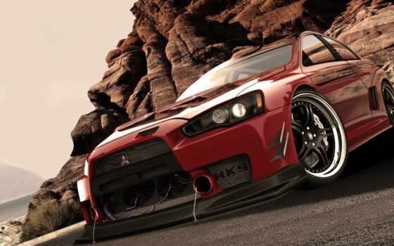 горы, автомобили, крутой, mitsubishi, машины, авто, blue, car, red, машина, фоновые,