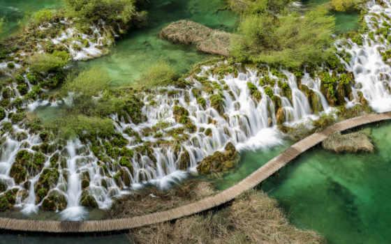 lakes, хорватия, plitvice, national, park,