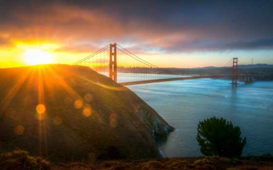 rising, los, sun, утро, мост, angeles, сша, город, солнца, kostya, cosmo,