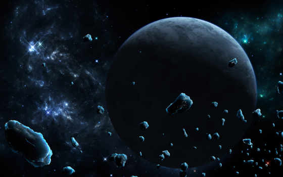 космос, астероиды, galaxy