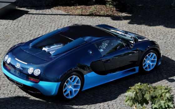 bugatti, veyron, blue