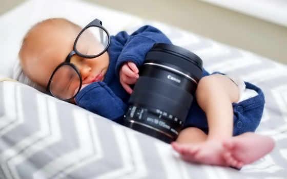 дебенок, спит, photographers