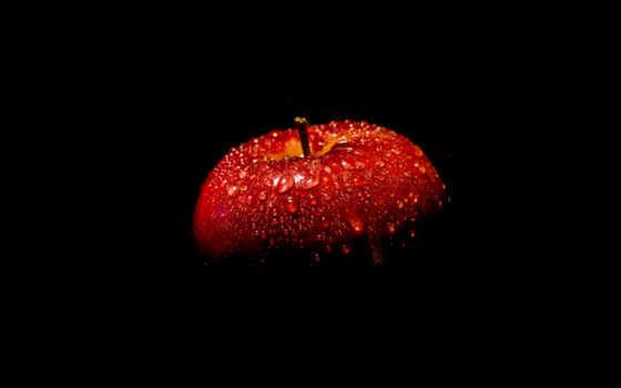 , apple, black, красное, еда, макро, натюрморт,