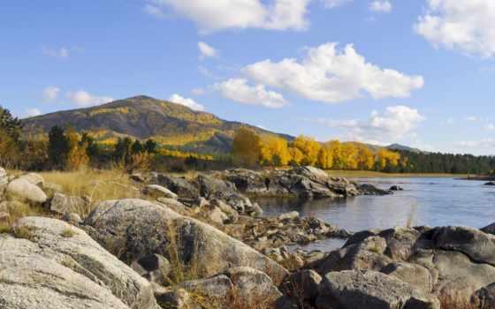 landscape, public, domain, stock, pictures, река, rocks, осень, использование, free, pro,