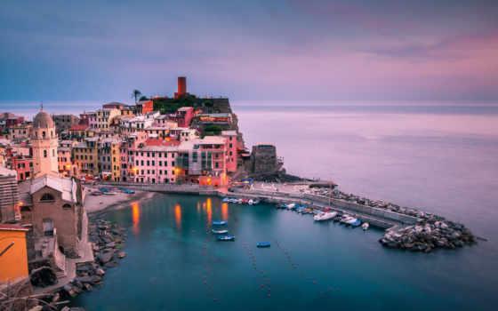 ecran, italie, italian, fond, ligurie, fonds, photographie, vernazza, urbain,