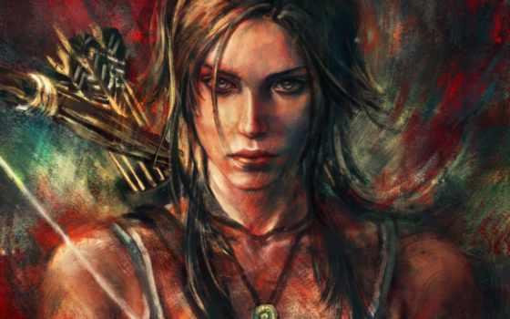 raider, tomb, лара, croft, крофт, девушка, game, игры,