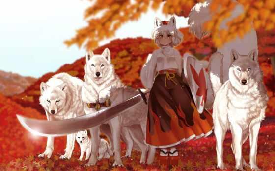 волки, игры, touhou
