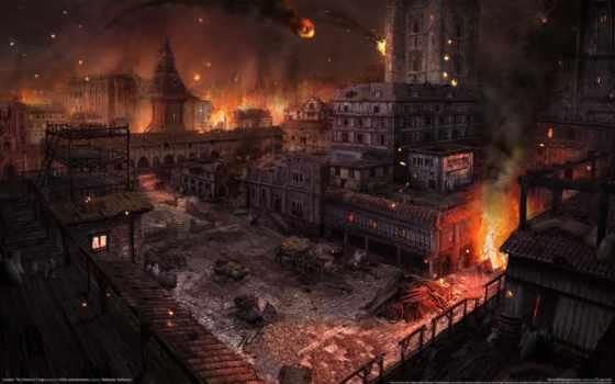 город, demon, hunted, forge, пожар, эти,
