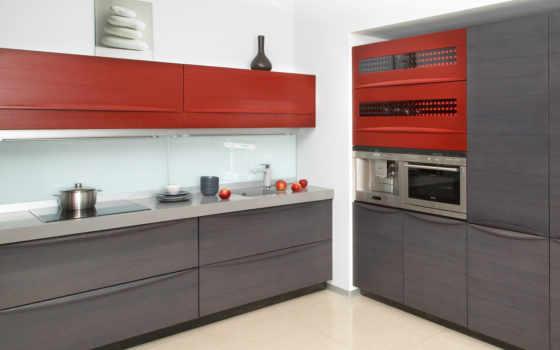 кухни, кухня, серый