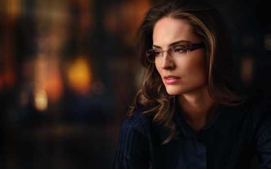 женщин, очках, женщина, она, янв,