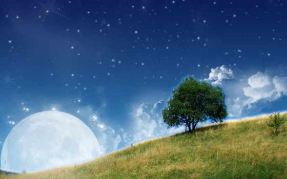 луна, stars, free