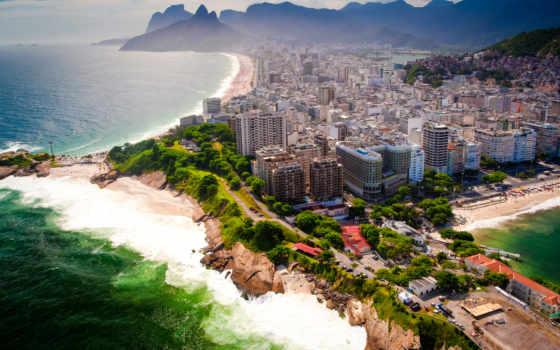 rio, janeiro, brazilian, мегаполис, панорама, побережье, landscape, море, горы, города,