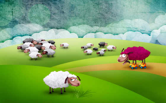 sheep, загадка, весь, illustration, vignette, ди, mafalda