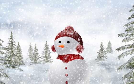 снеговик, пурга