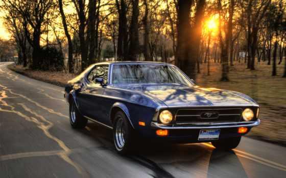 скорость, машина, закат