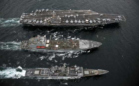корабли, военные, авианосец