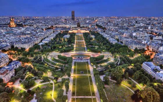 франция, париж, огни