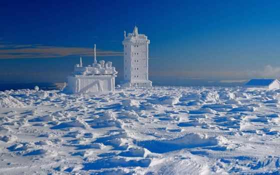 озеро, со, лед, abyss, россия, бирюзовый, байкал,