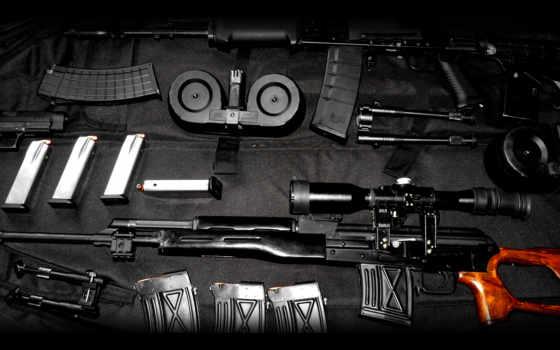 оружие, красивые, комплект,  винтовка, прицел, черный, магазин