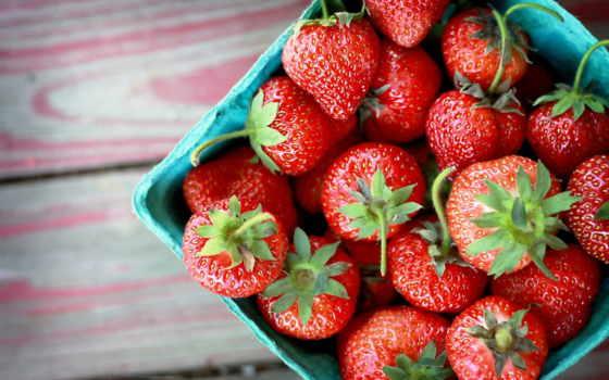 клубника, еда, ягоды, вкусно, табличка,