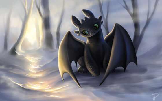 беззубик, дракона, приручить, фурия, ночная, art, дракон, иккинг,