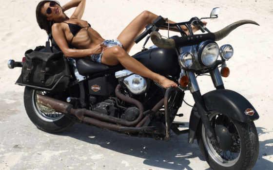 devushki, мотоциклы, many