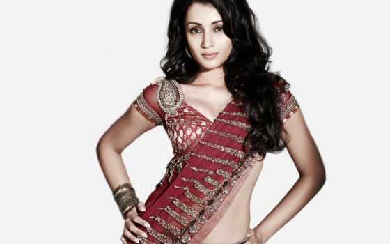 trisha, saree, krishnan