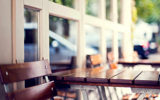 кафе, stage, город, кресло, размытость, боке,