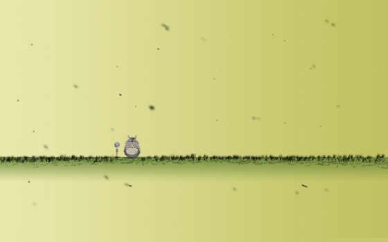 тоторо, трава, чудик, сосед, густой, микрофон, зверушка,