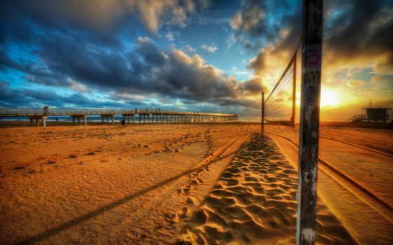 волейбол, сетка, пляж