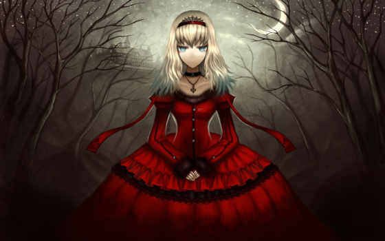 anime, девушка, gothic