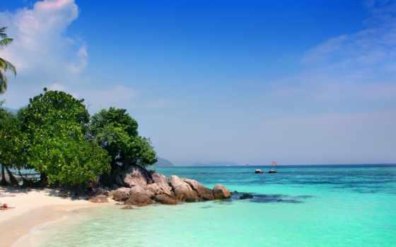пляж, пальмы, tropics, ocean, exotica,