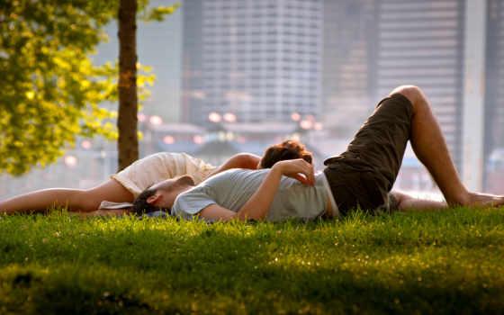 счастье, парке, влюбленные, цитаты, vapor, pair, влюбленная, городском, широкоформатные,