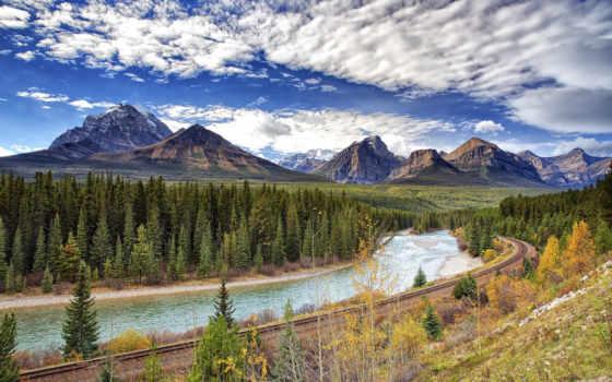 изображение, природа, scenery, фото, desktop, mountains, free, небо, тематика, канада,