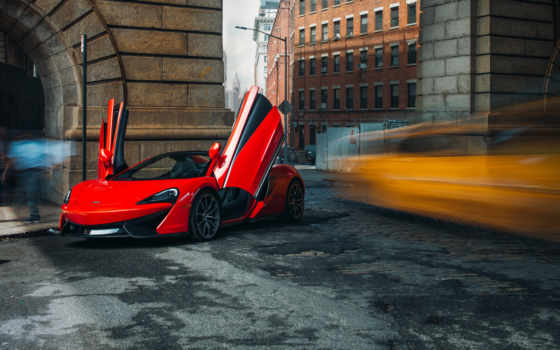 mclaren, паук, cars, red, car,