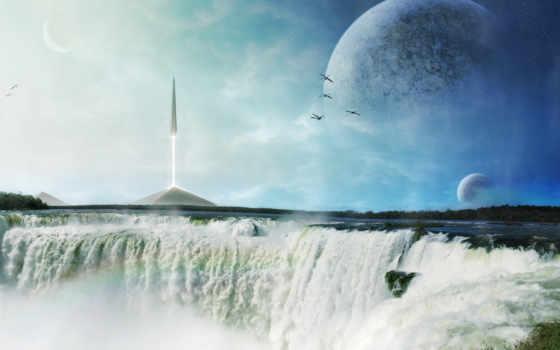 ракета, водопад