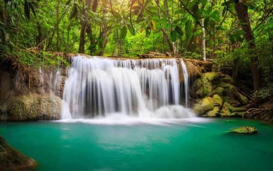 водопад, таиланд