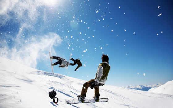 сноуборд, snowboarding, горы, snow, спорт, sports, просмотреть, снежные, winter, mountains,
