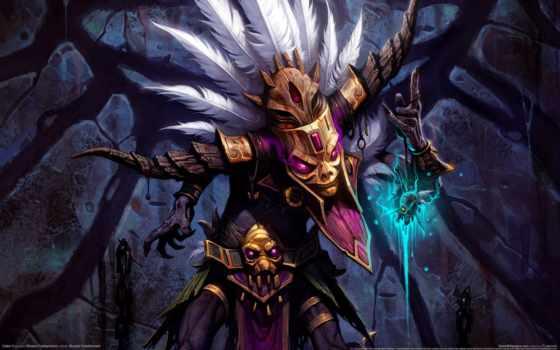 diablo, art, шаман, магия, barbarian,