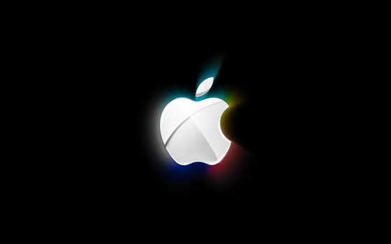 black, apple, white, абстракция, свет, год, высоком,