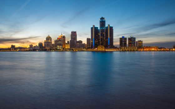 detroit, город, модульные, картины, alcatel, онтарио, hour, фотопанно, фотообои, коллекция,