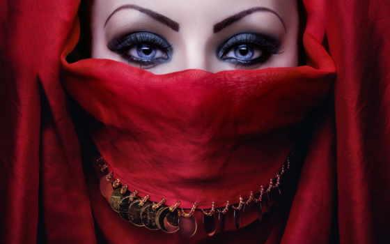хиджаб, красивые, свет