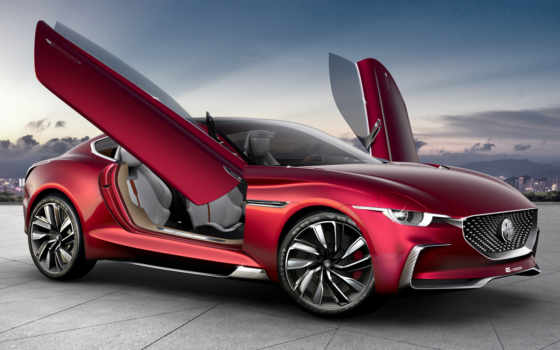 motion, saic, concept, coupe, шанхае, принадлежащая, motor, бренд, китайской, электрическое,