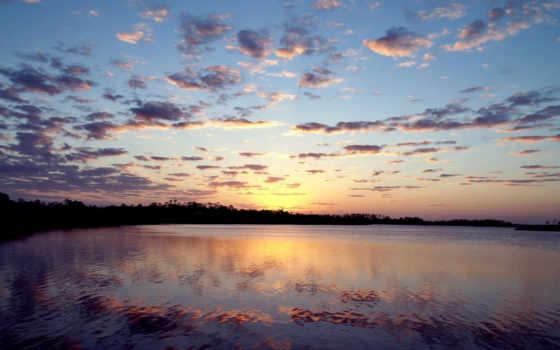 небо, full, природа, hdtv, закат, утро, permission, high, качество, вечер, отражение