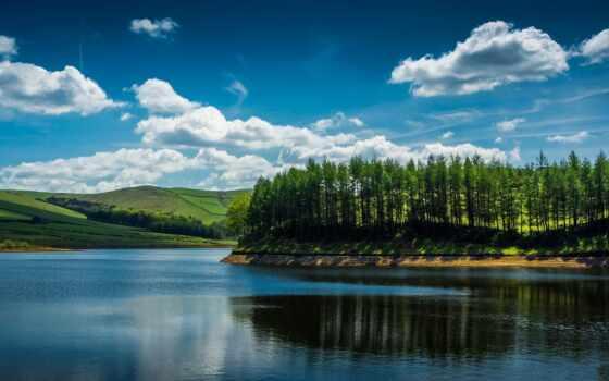 острова, река, landscapes, отдыха, water, деревя, затишок, islands, пейзажи,