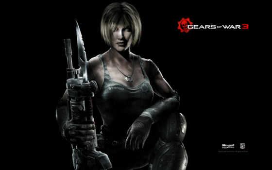 gears, war, оружие, девушка, anne, штрауд, солдат, смотреть, blonde,