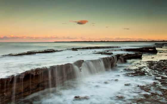 ocean, закат, clouds, природа, desktop,