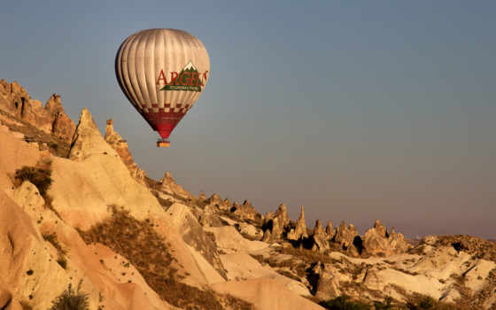 turkey, balloon, cappadocia, небо, mountains, aerial, armenien,